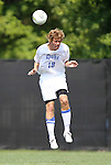 04 September 2011: Duke's Nat Eggleston. The Southern Methodist University Mustangs defeated the Duke University Blue Devils 1-0 in overtime at Koskinen Stadium in Durham, North Carolina in an NCAA Division I Men's Soccer game.