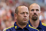 09 August 2014: Salt Lake assistant coach Daryl Shore. Real Salt Lake hosted DC United at Rio Tinto Stadium in Sandy, Utah in a 2014 Major League Soccer regular season game. Salt Lake won the game 3-0.