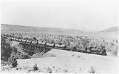 D&amp;RGW #478 with 11-car tank train northbound on Farmington Branch trestle south of Durango with shipment for forwarding to the RGS.<br /> D&amp;RGW  Farmington Branch, NM  Taken by Best, Gerald M. - 7/5/1940