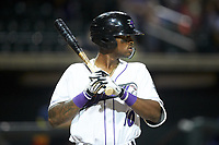 Ti'Quan Forbes (10) of the Winston-Salem Dash at bat against the Buies Creek Astros at BB&T Ballpark on May 5, 2018 in Winston-Salem, North Carolina. The Dash defeated the Astros 6-2. (Brian Westerholt/Four Seam Images)