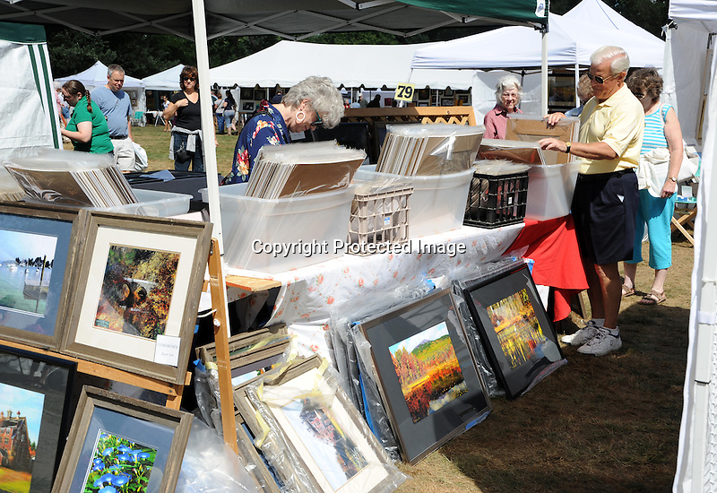 Art display at Art in the Park festival in Keene, New Hampshire USA