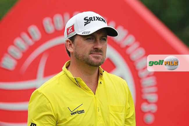 Graeme McDowell (NIR) tees off the 10th tee during Sunday's Final Round of the 2013 WGC-HSBC Champions held at the Sheshan International Golf Club, Shanghai, China. 3rd November 2013.<br /> Picture: Eoin Clarke/www.golffile.ie