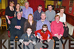 Bash: Celebrating his 40th Birthday in style at Kirbys Brogue Inn, Tralee, on Friday evening was Martin Moore of Caherslee (seated third from left), along with family and friends..