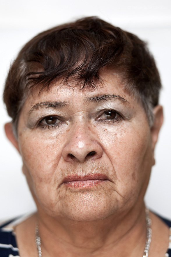 Portrait of Laeticia, a resident of Casa Xochiquetzal, at the shelter in Mexico City on Septemer 14, 2010. Casa Xochiquetzal is a shelter for elderly sex workers in Mexico City. It gives the women refuge, food, health services, a space to learn about their human rights and courses to help them rediscover their self-confidence and deal with traumatic aspects of their lives. Casa Xochiquetzal provides a space to age with dignity for a group of vulnerable women who are often invisible to society at large. It is the only such shelter existing in Latin America. Photo by Bénédicte Desrus