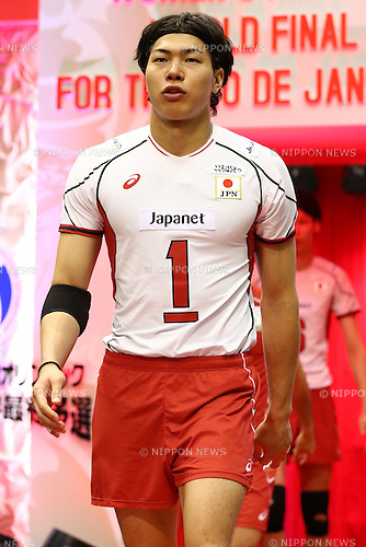 Kunihiro Shimizu (JPN), <br /> MAY 29, 2016 - Volleyball :<br /> Men's Volleyball World Final Qualification for the Rio de Janeiro Olympics 2016<br /> match between Japan 0-3 China<br /> at Tokyo Metropolitan Gymnasium, Tokyo, Japan.<br /> (Photo by Shingo Ito/AFLO SPORT)