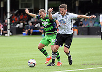 Pictured: Kyle Copp of Swansea Saturday 11 July 2015<br />