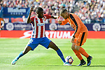 Atletico de Madrid's Thomas Teye and SD Eibar's David Junca Reñe during Liga Liga match between Atletico de Madrid and SD Eibar at Vicente Calderon Stadium in Madrid, May 06, 2017. Spain.<br /> (ALTERPHOTOS/BorjaB.Hojas)