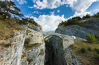 Switzerland, Canton Valais, near Bratsch: The High Bridge on the northern slope of Rhône-Valley |  Schweiz, Kanton Wallis, bei Bratsch: Die Hohe Bruecke am Nordhang des Rhonetals