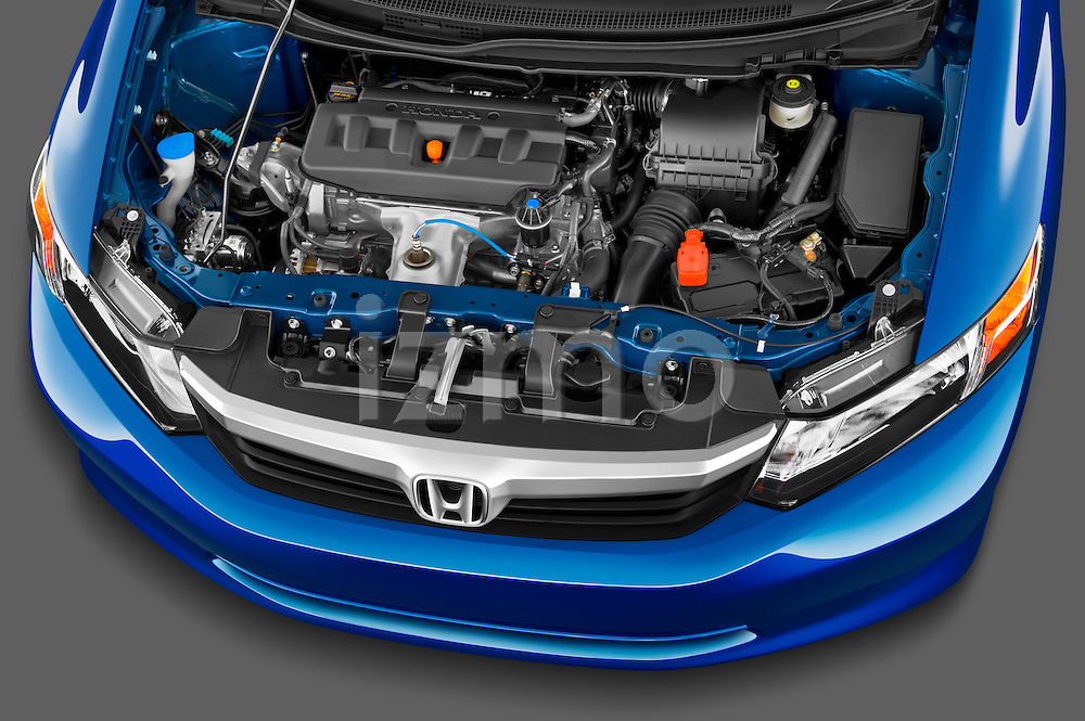 High angle engine detail of a 2012 Honda Civic Sedan DX.