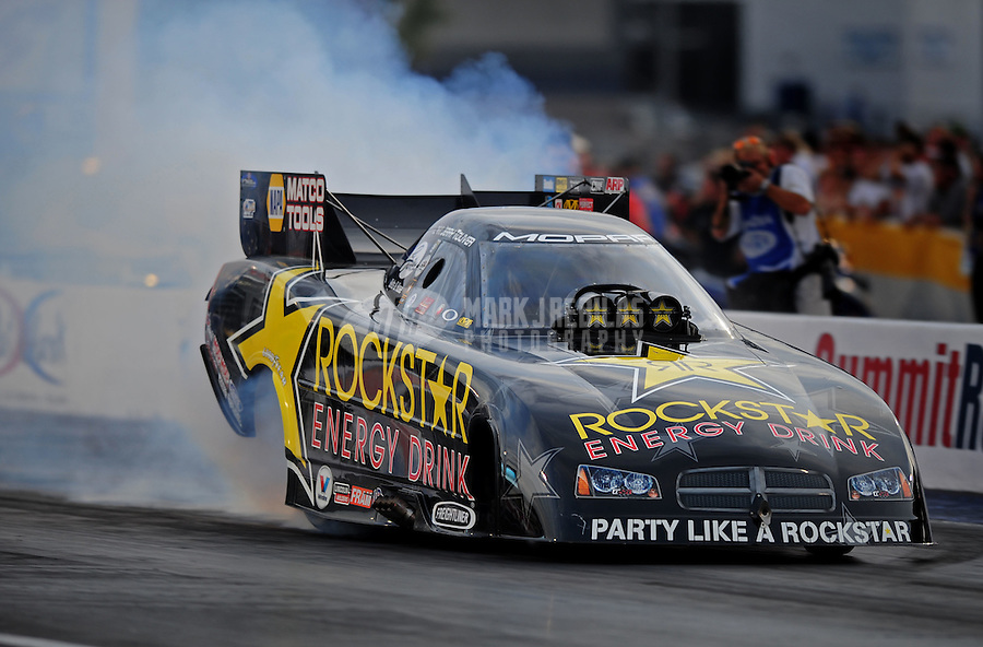Oct. 31, 2008; Las Vegas, NV, USA: NHRA funny car driver Jerry Toliver during qualifying for the Las Vegas Nationals at The Strip in Las Vegas. Mandatory Credit: Mark J. Rebilas-