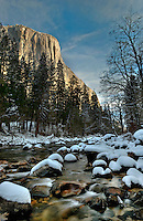 Yosemite in winter. High Dynamic Range Image.