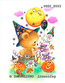 GIORDANO, CUTE ANIMALS, LUSTIGE TIERE, ANIMALITOS DIVERTIDOS, Halloween, paintings+++++,USGI2053,#AC#