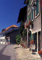 Switzerland, La Cote, Vaud, Village of St. Prex