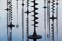 Reflecting pool at La Defense, Paris, France