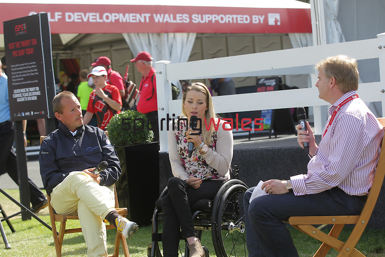 ISPS Handa Wales Open 2013<br /> Tented Village<br /> Josie Pearson &amp; Craig Thomas Q&amp;A<br /> 01.09.13<br /> <br /> &copy;Steve Pope-Sportingwales