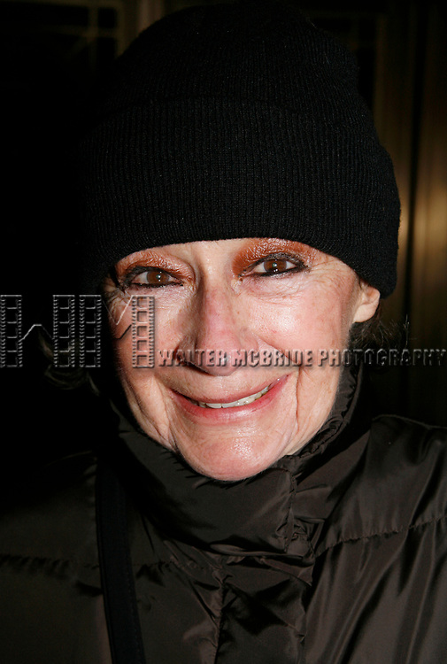 Zoe Caldwell arriving for the Opening Night Performance of THE FARNSWORTH INVENTION at the Music Box Theatre in New York City.<br />