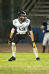 Lawndale, CA 10/18/13 - Jeff Ickes (Peninsula #13) in action during the Peninsula vs Leuzinger Varsity football game at Leuzinger High School.