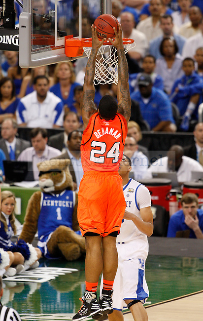 Louisville Cardinals forward Chane Behanan dunks during the first half of the UK vs. Louisville National Semi-finals at the Super Dome in New Orleans, Louisiana  March 31, 2012.. Photo by Brandon Goodwin | Staff