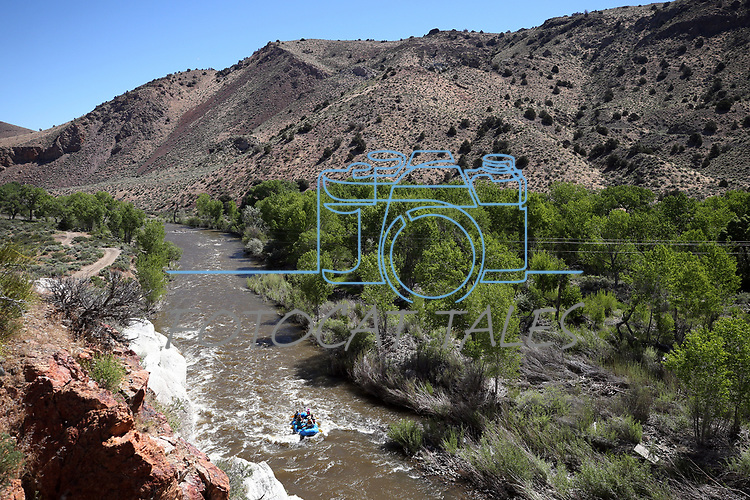 Rafters float the Carson River east of Carson City, Nev. ,on Tuesday, May 29, 2018. <br /> Photo by Cathleen Allison/Nevada Momentum