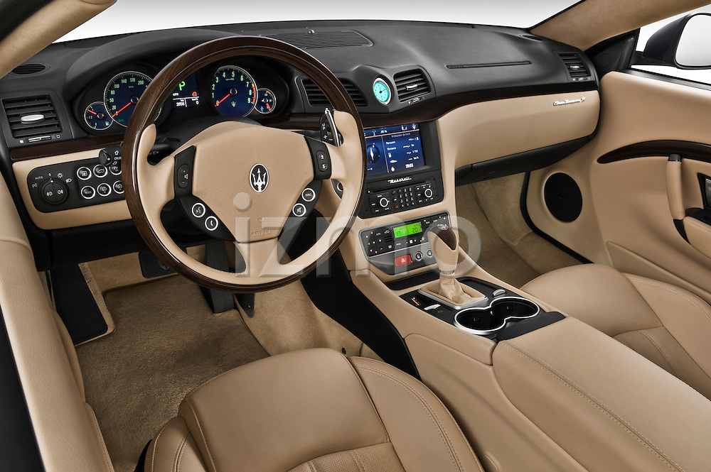 High angle dashboard view of a 2010 Maserati Granturismo S Automatic Coupe