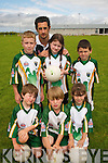 STARS: Kerry football star Paul Galvin withb some future stars at the Kerry GAA VHI Cul Camp in Mountcoal on Thursday last..Front L/r. Eamon Shanahan, John Quilter, Aoife O'Halloran..Back L/r. Noah Yasoubi, Danielle Brassil and Conor Kennelly..