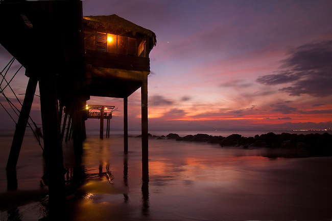 A Pier at sunset