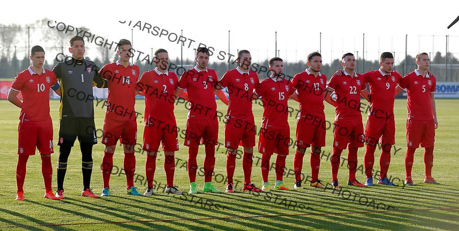 Srbija - Ukraina U21 (1996. godiste) omladinska reprezentacija Srbije 28.3.2017.( photo: Pedja Milosavljevic / STARSPORT)