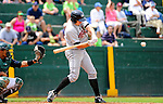 3 July 2011: Tri-City ValleyCats infielder Matthew Duffy in action against the Vermont Lake Monsters at Centennial Field in Burlington, Vermont. Duffy returns to Centennial as a pro player having played college ball for the University of Vermont Catamounts. The NCAA Division I baseball program was eliminated due to budgetary conditions in 2009. The Lake Monsters rallied from a 6-3 deficit, scoring 4 runs in the bottom of the 9th, to defeat the ValletCats 7-6 in NY Penn League action. Mandatory Credit: Ed Wolfstein Photo