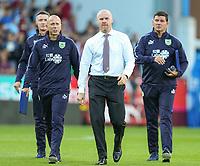 Burnley manager Sean Dyche walks to the dug out<br /> <br /> Photographer Alex Dodd/CameraSport<br /> <br /> UEFA Europa League - Europa League Qualifying Round 2 2nd Leg - Burnley v Aberdeen - Thursday 2nd August 2018 - Turf Moor - Burnley<br />  <br /> World Copyright © 2018 CameraSport. All rights reserved. 43 Linden Ave. Countesthorpe. Leicester. England. LE8 5PG - Tel: +44 (0) 116 277 4147 - admin@camerasport.com - www.camerasport.com