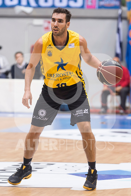 Iberostar Tenerife's Ferran Bassas during Liga Endesa match between San Pablo Burgos and Iberostar Tenerife at Coliseum Burgos in Burgos, Spain October 01, 2017. (ALTERPHOTOS/Borja B.Hojas)