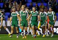 Shane Geraghty of London Irish looks dejected after his side concede a try. Aviva Premiership match, between London Irish and Bath Rugby on November 7, 2015 at the Madejski Stadium in Reading, England. Photo by: Patrick Khachfe / Onside Images