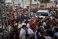 June 6, 2018: Andres Manuel Lopez Obrador (right down corner), an opposition candidate of MORENA party running for presidency, during his campaign rally at Tecamachalco's municipality in Puebla, Mexico. National elections will be hold on July 1.