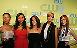 Melrose Cast  - Stephanie Jacobsen, Jessica Lucas, Laura Leighton, Ashlee Simpson-Wentz at the CW Upfront 2009 on May 21, 2009 at Madison Square Gardens, New York NY. (Photo by Sue Coflin/Max Photos)
