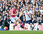 Tottenham's Harry Kane tussles with Bournemouth's Simon Francis during the Premier League match at White Hart Lane Stadium.  Photo credit should read: David Klein/Sportimage