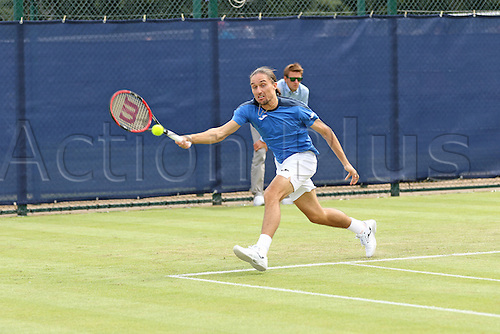 21.06.2016. Nottingham Tennis Centre, Nottingham, England. Aegon Open Mens ATP Tennis. Alexandr Dolgopolov of Ukraine in action