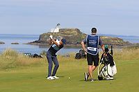 Ross Fisher (ENG) on the 4th fairway during Round 1 of the Aberdeen Standard Investments Scottish Open 2019 at The Renaissance Club, North Berwick, Scotland on Thursday 11th July 2019.<br /> Picture:  Thos Caffrey / Golffile<br /> <br /> All photos usage must carry mandatory copyright credit (© Golffile | Thos Caffrey)