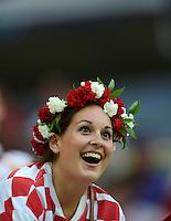FUSSBALL  EUROPAMEISTERSCHAFT 2012   VORRUNDE Kroatien - Spanien                 18.06.2012 Fans von der Nationalmannschaft von Kroatien