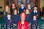 The Pupils of Anablath NS Kilcummin with Bishop Ray Browne after their Confirmation In Our Lady of lourdes church on Tuesday front row l-r: Adam O'connor, Anna Hannigan. Middle row: Siofra Foley, Aoireann Moriarty, Claire Stagg. Back row: Chris Moynihan, Irene O'Keeffe principal, Evan  Fitzgerald and Conor O'Leary