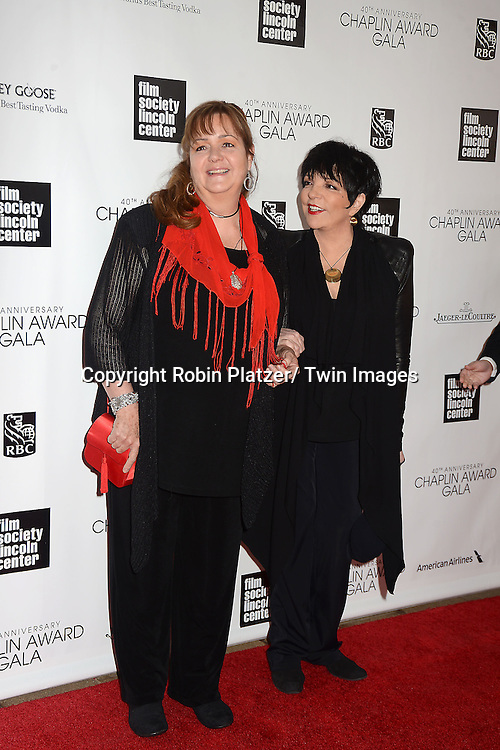 Tina Minnelli and sister Liza Minnelli attend the  Film Society of Lincoln Center's Gala 40th Annual Charlie Chaplin Award honoring Barbra Streisand on April 22, 2013 in New York City.