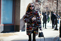 Joanna Hillman attends Day 7 of New York Fashion Week on Feb 18, 2015 (Photo by Hunter Abrams/Guest of a Guest)