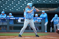 Tyler Lynn (14) of the North Carolina Tar Heels at bat against the Boston College Eagles in Game Five of the 2017 ACC Baseball Championship at Louisville Slugger Field on May 25, 2017 in Louisville, Kentucky. The Tar Heels defeated the Eagles 10-0 in a game called after 7 innings by the Mercy Rule. (Brian Westerholt/Four Seam Images)