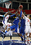 Terrence Jones goes for a rebound in the final game of the 2011 SEC Men's Basketball Tournament between Kentucky and Florida, played at the Georgia Dome, Sunday, March 13, 2011.  Kentucky won 70-54.  Photo by Latara Appleby | Staff