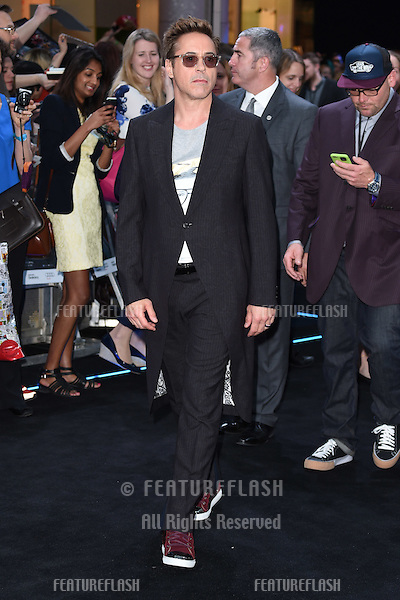 "Robert Downey Jr arrives for the ""Avengers: Age of Ultron"" European premiere at the Vue cinema, Westfield London. 21/04/2015 Picture by: Steve Vas / Featureflash"