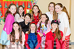 Front row Melissa Ahern, Emma Griffin, Bianca Lejewoba, back row: Tara Murphy, Grace Myers, Ellen Considine, Orana Driver, Sadbh O'Leary, Jessica Flynn and Eva O'Neill who performed in the Fossa NS musical Grease on Thursday night