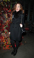 Olivia Grant at the Ivy Chelsea Garden's Winter Garden launch party, The Ivy Chelsea Garden, King's Road, London, England, UK, on Sunday 05 November 2017.<br /> CAP/CAN<br /> &copy;CAN/Capital Pictures
