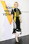 Australian actress Cate Blanchett poses for the cameras during the opening celebration for Louis Vuitton's ''Volez, Voguez, Voyagez'' exhibition on April 21, 2016, Tokyo, Japan. After a successful run in Paris, the luxury fashion brand now brings the instalment to Tokyo, which traces Louis Vuitton's history from 1854 to today. Some 1,000 objects, including rare trunks, photographs and handwritten client cards will be displayed. Japanese room will be set up specially for Japan, showcasing such rare items as makeup and tea ceremony trunks for kabuki actor Ebizo XI. The exhibition will be open to the public free of charge from April 23 to June 19. (Photo by Rodrigo Reyes Marin/AFLO)