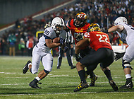 College Park, MD - November 25, 2017: Penn State Nittany Lions running back Saquon Barkley (26) runs the ball during game between Penn St and Maryland at  Capital One Field at Maryland Stadium in College Park, MD.  (Photo by Elliott Brown/Media Images International)