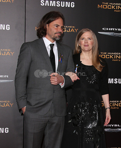 "Los Angeles, CA - November 16 Peter Craig, Suzanne Collins Attending Premiere Of Lionsgate's ""The Hunger Games: Mockingjay - Part 2"" At Microsoft Theater On November 16, 2015. Photo Credit: Faye Sadou / MediaPunch"