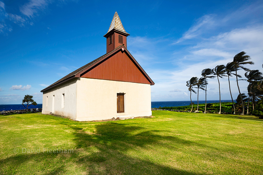 Huialoha Church, Established 1859, Kaupo, Maui, Hawaii.