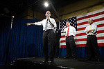 "Tuesday, May 8,  2007. Richmond, VA.. US Presidential candidate and senator Barack Obama, held what was billed as a ""low dollar fundraiser"" at Plant Zero in Richmond, VA, drawing a crowd of 700 supporters.. He was joined on stage by (l to r) Virginia Governor Tim Kaine and congressman Bobby Scott."
